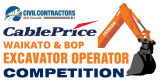 CCNZ Waikato & BoP CablePrice Excavator Operator Competition